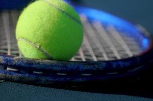 Tennis racket restringing service, restrung racket