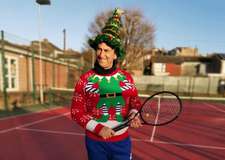 Tennis Coach Francois at Xmas!